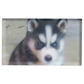 Chien de chien de traîneau sibérien porte-photo