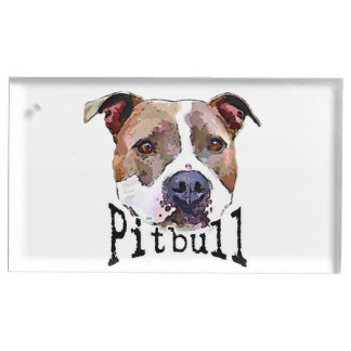 Chien de Pitbull Porte-carte De Table