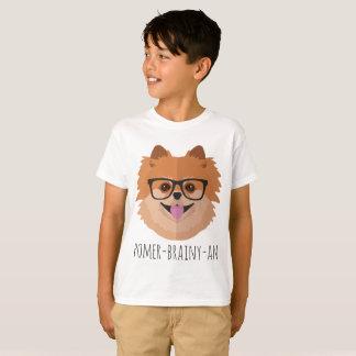 Chien de Pomeranian en verres nerd | T-shirt