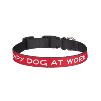 Chien de thérapie au travail (petit) colliers de chiens