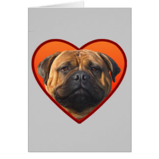 Chien du bullmastiff de Valentine Carte