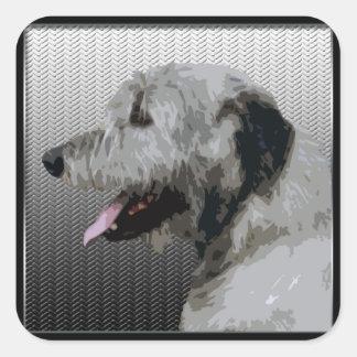 Chien-loup irlandais sticker carré