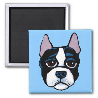 Chien mignon, chiot de bull-terrier de Boston Aimant