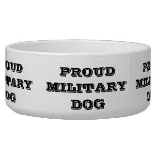 Chien militaire fier de cuvette de chien bol pour chien