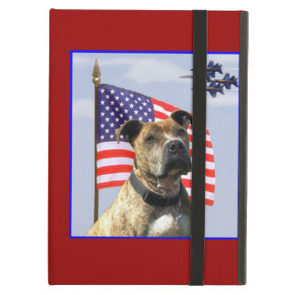 Chien patriotique de pitbull étui iPad air