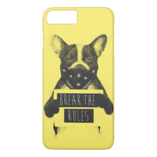 Chien rebelle (jaune) coque iPhone 7 plus