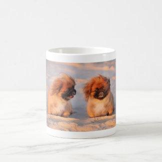 Chiens mignons de Pekingese Mug