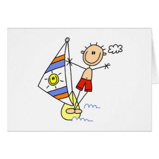 Chiffre cartes de bâton de parachute ascensionnel