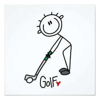 Chiffre simple golfeur de bâton carton d'invitation  13,33 cm