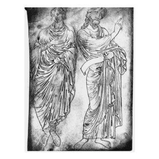 Chiffres de deux apôtres ou prophètes carte postale