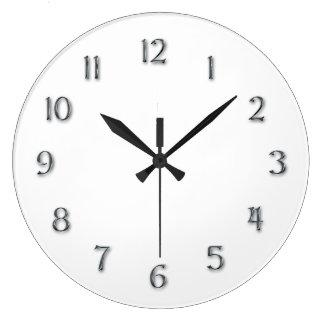 """Chiffres de """"étain de Faux"""" de simplicité Grande Horloge Ronde"""