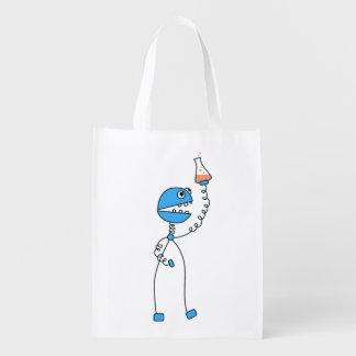 Chimie drôle de robot de bande dessinée sacs d'épicerie réutilisables