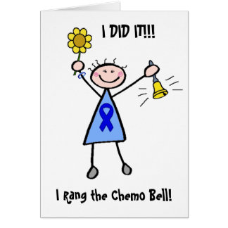 Chimio Bell - femme de cancer du colon Carte De Vœux