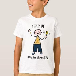 Chimio Bell - ruban d'or de Cancer d'enfance T-shirt