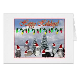 Chinchilla Santa décorant l'arbre Carte
