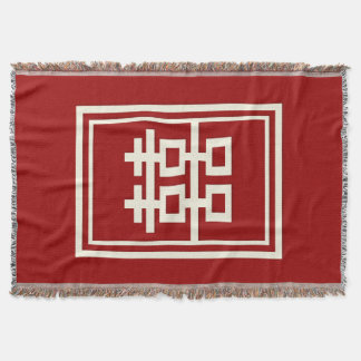 Chinese Huwelijk van het Geluk van de rechthoek Deken