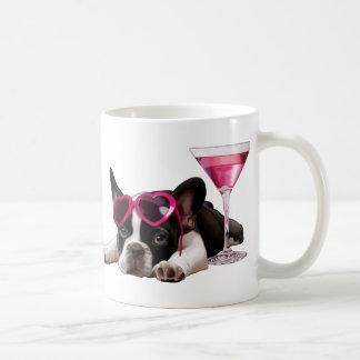 Chiot de bouledogue français mug blanc