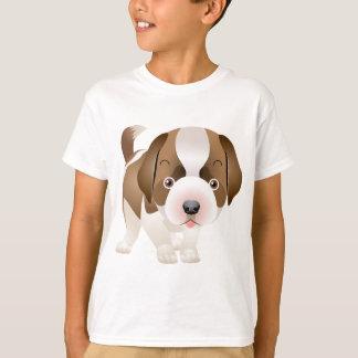 Chiot de St Bernard pour le T-shirts de famille