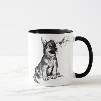 Chiot et sauterelle mug
