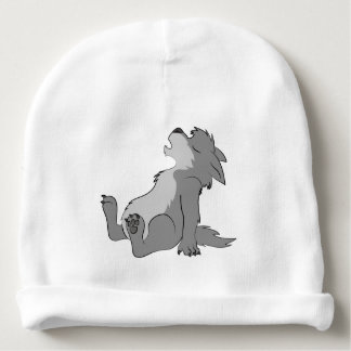 Chiot gris de loup-garou d'hurlement bonnet pour bébé