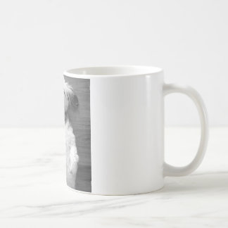 Chiot noir et blanc de Shih-Tzu Mug