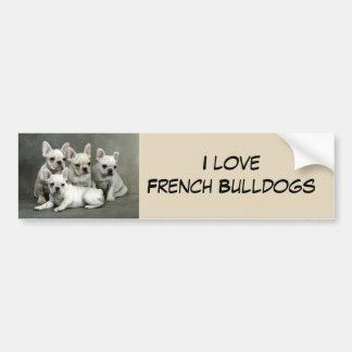 Chiots mignons de bouledogue français autocollant de voiture