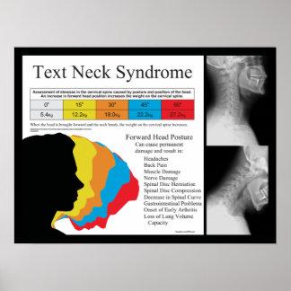 Chiropractie de syndrome de cou des textes en