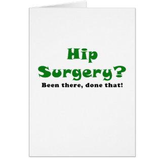 Chirurgie de hanche là fait cela carte de vœux