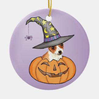 Chiwawa Halloween Ornement Rond En Céramique
