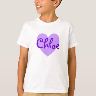 Chloe dans le pourpre t-shirt