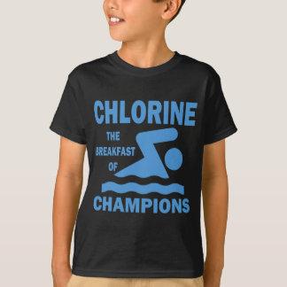 Chlore le petit déjeuner des champions t-shirt