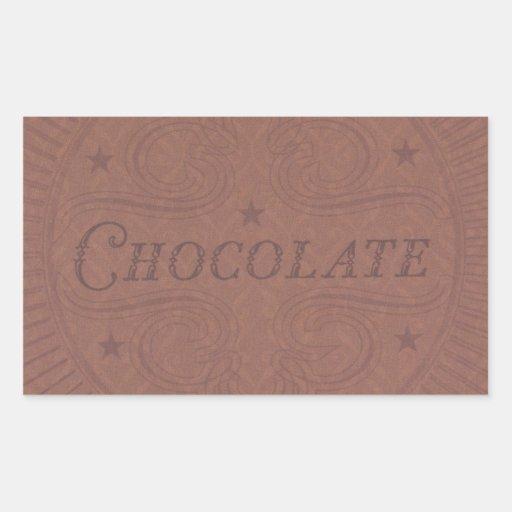 Chocolat Autocollant En Rectangle