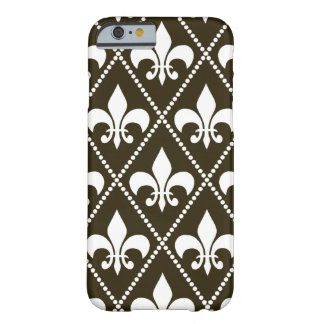 Chocolate Fleur de Lis Coque iPhone 6 Barely There