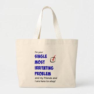 Choisissez la plupart de problème irritant sac en toile jumbo