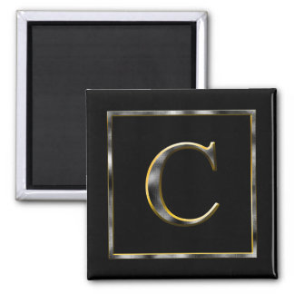 Choisissez votre propre aimant d'initiale en métal