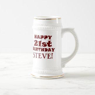 Chope À Bière 21ème bière heureuse faite sur commande Stein
