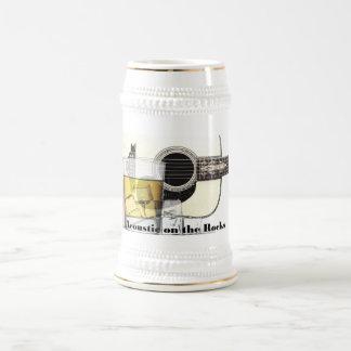 """Chope À Bière """"Acoustique bière Stein sur roches"""""""