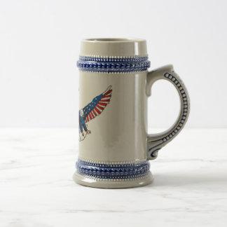 Chope À Bière Aigle patriotique, liberté américaine