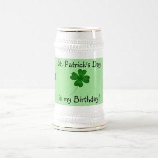 Chope À Bière Anniversaire de Jour de la Saint Patrick