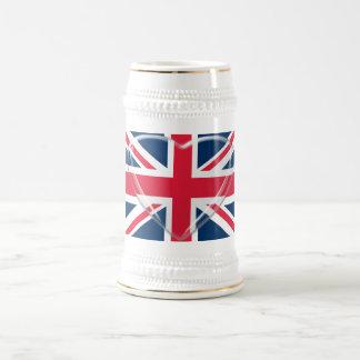 Chope À Bière Art de coeur de drapeau et en verre d'Union Jack