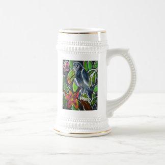 Chope À Bière Art de toucan de forêt tropicale
