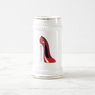Chope À Bière Art stylet rouge de chaussure de talon de