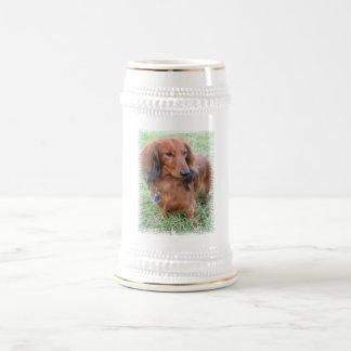 Chope À Bière Bière à cheveux longs Stein de teckel