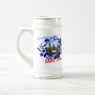 Chope À Bière Bière bleue Stein de Delft Fryslân Snits/Sneek
