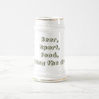Chope À Bière Bière, sport, nourriture, je vis le rêve !