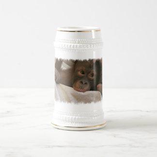 Chope À Bière Bière Stein de chimpanzé de bébé