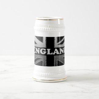 Chope À Bière Caisses de drapeau d'Union Jack de gris noir et