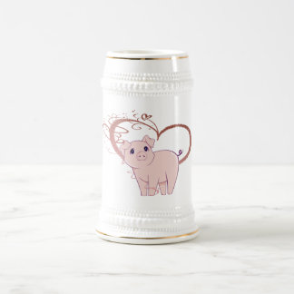 Chope À Bière Coeur mignon de porc et de remous
