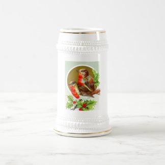Chope À Bière Deux merles de Noël