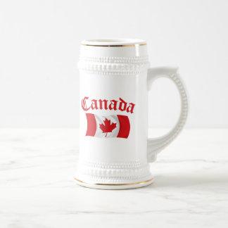 Chope À Bière Drapeau canadien